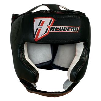 Revgear Revgear Leather Open Face Head Gear With Cheek Protection